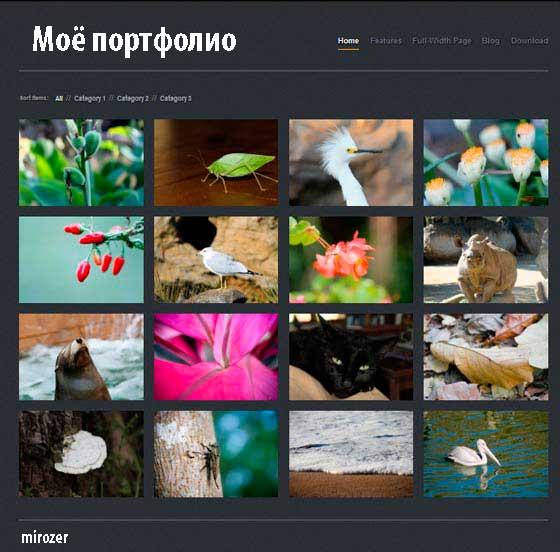 Как сделать сайт-фотогалерею